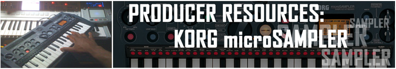Producer Resources: KORG microSAMPLER