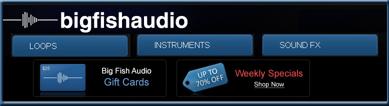Shop at Big Fish Audio