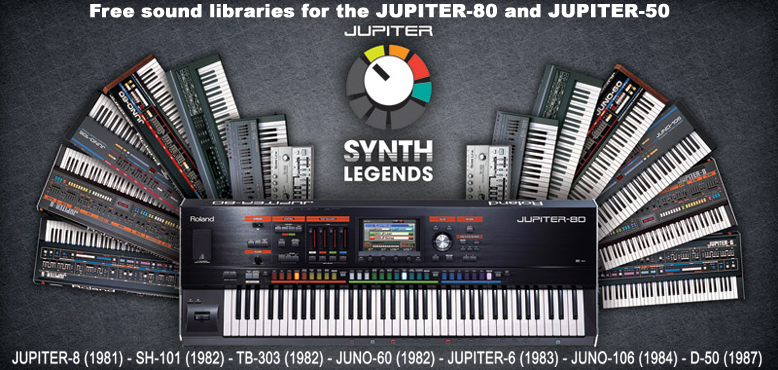 Free sounds for your Jupiter!